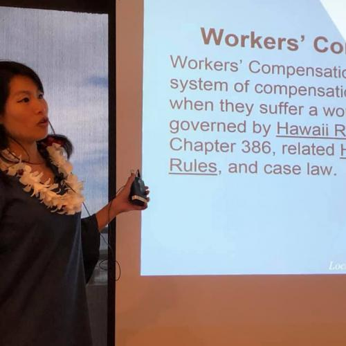 Samantha gave an excellent overview of Hawaii Workers' Compensation