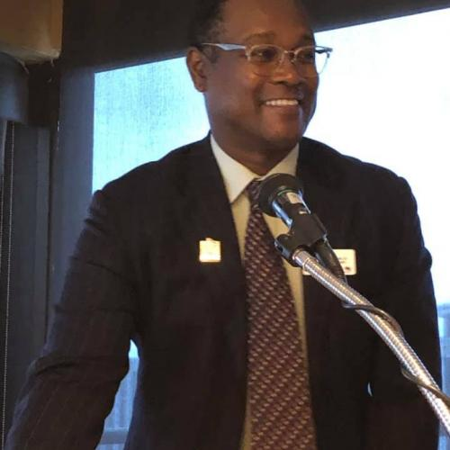 President Preston Jones leading our meeting