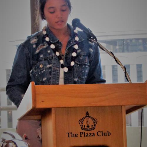 Second Place Winner, Melissa Kansou of Pearl City High School