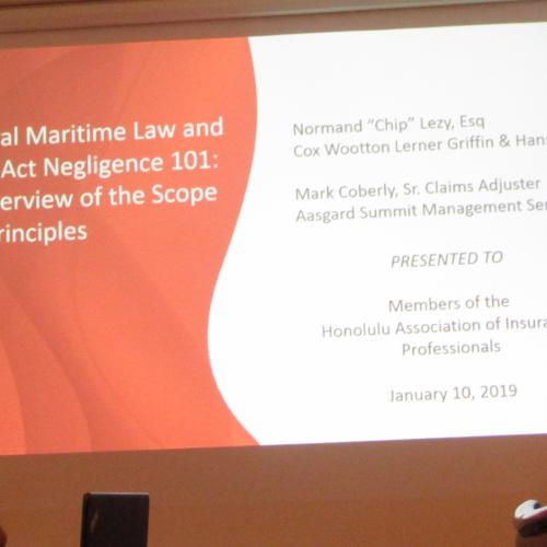 General Maritime Law & Jones Act Negligence 101