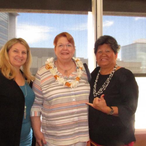Leslie Door, special guest Tish Riley, and HAIP VP Martha Nobriga