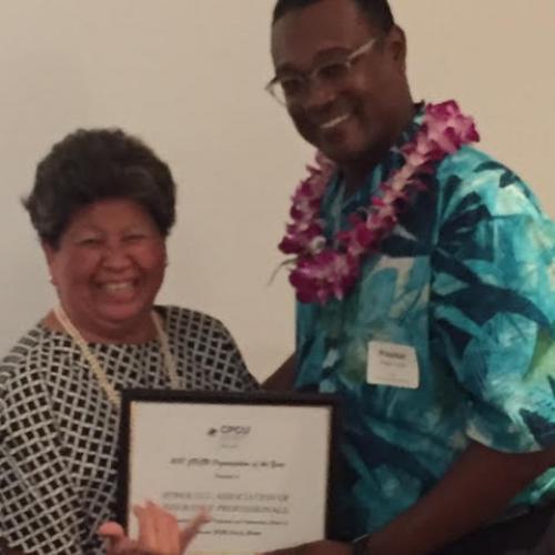 HAIP President, Preston Jones and Vice President Martha Nobriga