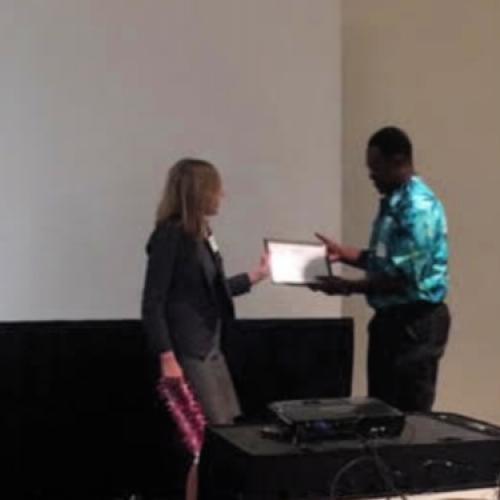 HAIP President, Preston Jones receiving award