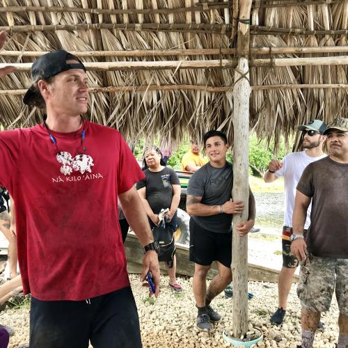 Staff of Paepae o He'eia explaining the restoration and importance of the fishpond