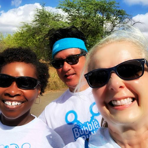 HAIP members Katharine Nohr, Mark Coberly, Tawanda Scott and Minette Valdes (not pictured) joined the fun