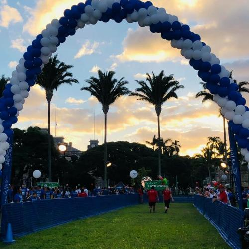 The entry to the 5k walk/run