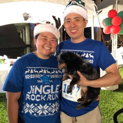 HAIP member Evelyn Hara with her husband and their dog