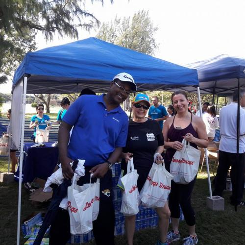 Lot's of goodies given by the many wonderful sponsors of the March of Dimes