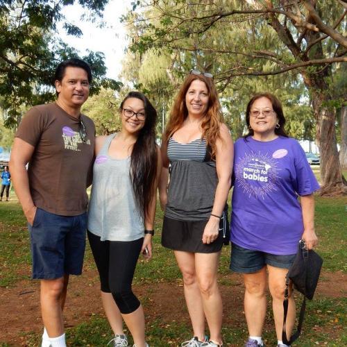 HAIP Members Mark Coberly, Julie Kirk and Charlene Mizumoto and guest Jennifer Borja