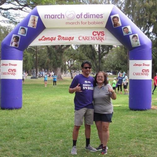 HAIP Members Mark Coberly & Charlene Mizumoto at the walk